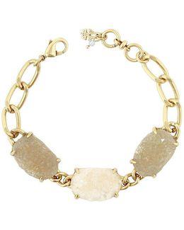 Druzy Chain Link Line Bracelet