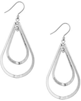 Double Teardrop Orbital Earrings