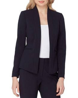 Petite Collarless Bi-stretch Jacket