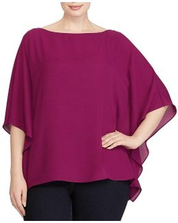 Plus Draped Georgette Top