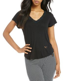 Lace-trimmed Swing Sleep Top