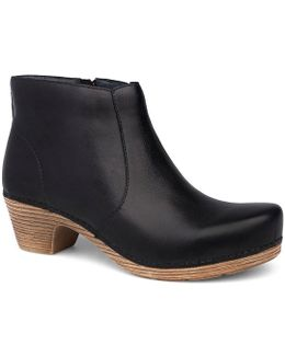 Maria Leather Clog Booties
