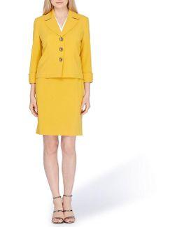 Notch Collar Skirt Suit