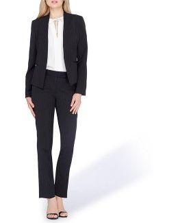 Pinstripe Pant Suit