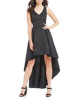 Jacquard High Low Dress