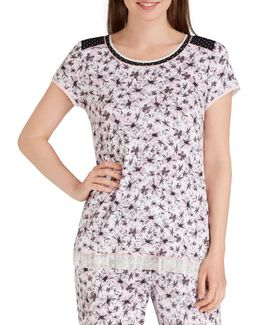 Floral Jersey Sleep Top