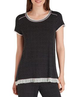 Dotted Jersey Sleep Top