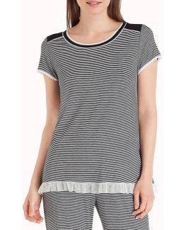 Striped Jersey Sleep Top