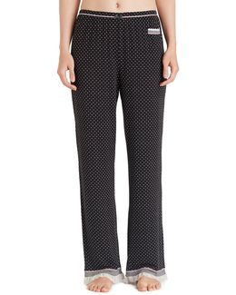 Dotted Jersey Sleep Pants