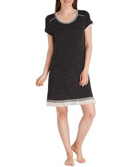 Dotted Jersey Sleepshirt