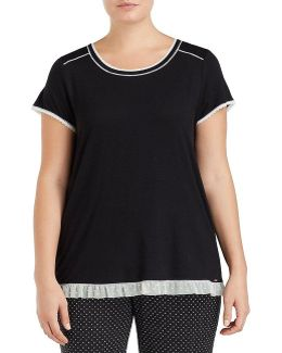 Plus Jersey Sleep Top