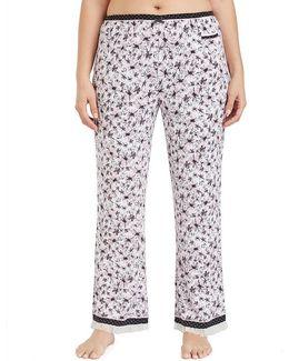 Plus Floral Sleep Pants