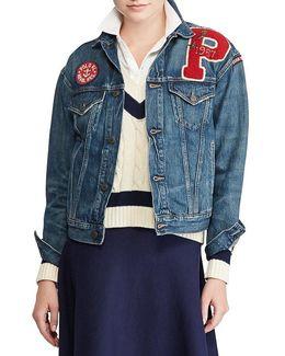Varsity Patchwork Denim Jacket