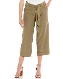 Belted Gaucho Pants