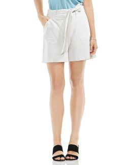 Self Belt Patch Pocket Shorts