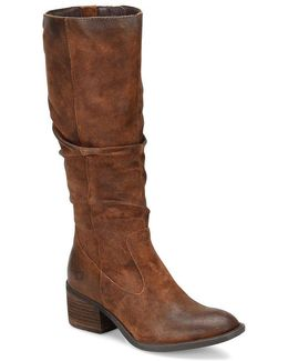 Doyle Wide Shaft Tall Slouch Boots