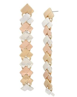 Chevron Linear Drop Earrings