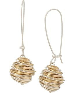 Wire-wrapped Drop Earrings