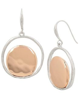 Robert Lee Morris Two-tone Circular Drop Earrings