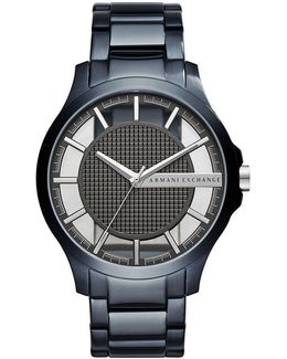 Ax Stainless Steel Blue Ip Analog Watch