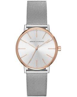 Ax Analog Mesh Bracelet Watch