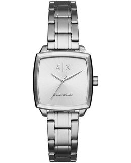 Ax Square Stainless Steel Analog Watch