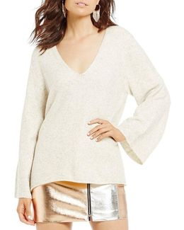 Urban Flossy Bell Sleeve Sweater