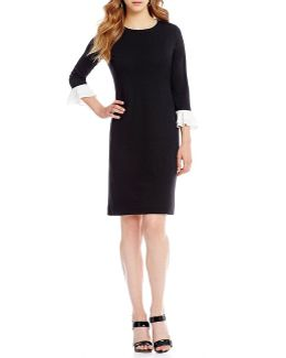 Trumpet Sleeve Dress