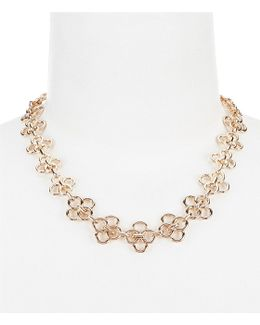 Open Metal Collar Necklace