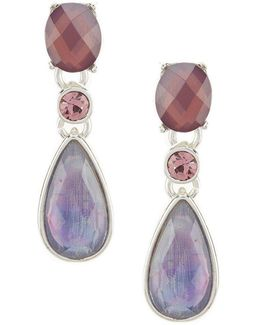 Purple Multi-stone Drop Earrings