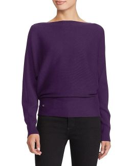 Cotton-blend Dolman Sweater