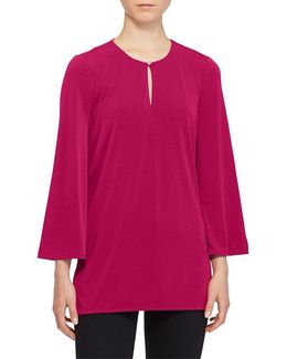 Bell-sleeve Jersey Tunic