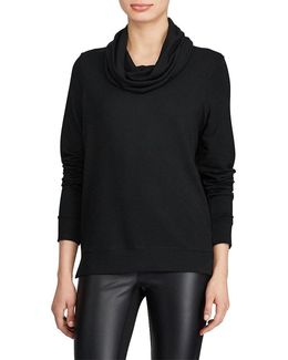French Terry Cowlneck Top