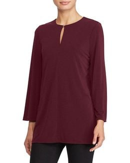Petite Bell-sleeve Jersey Tunic