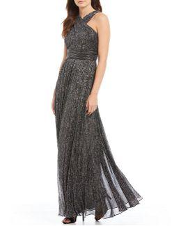 X-front Metallic Gown