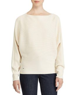 Petite Cotton-blend Dolman Sweater