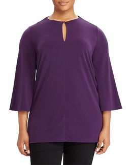 Plus Bell-sleeve Jersey Tunic