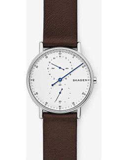Signatur Multifunction Leather-strap Watch