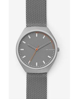 Grenen Analog Titanium Mesh Bracelet Watch