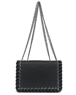 Zamia Velvet Whip-stitched Convertible Cross-body Bag
