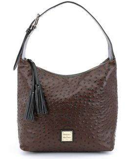 Ostrich Collection Paige Hobo Bag
