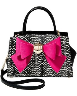 Bow You See It Dotted Chain-strap Satchel