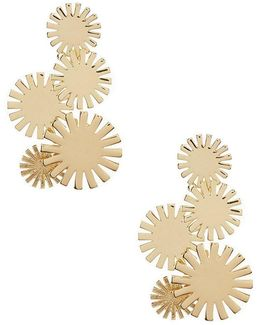 Indian Canyon Flower Burst Chandelier Earrings
