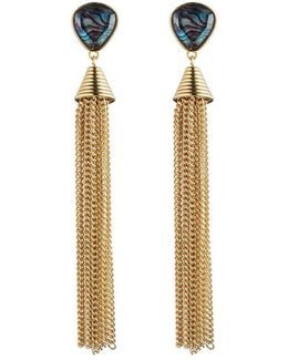 Hollywood Hills Stone Tassel Earrings