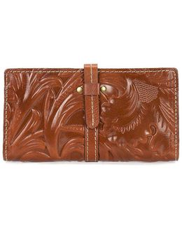 Tooled Collection Nevola Floral-embossed Checkbook Wallet