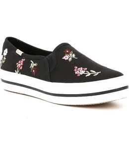 Keds For Triple Decker Spriggy Embroidery Sneakers