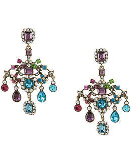 Multi-color Chandelier Statement Earrings