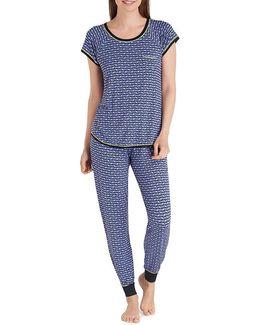 Elephant-print Jersey Pajamas