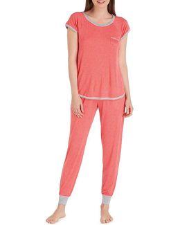 Dotted Jersey Pajamas