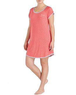 Plus Dotted Jersey Sleepshirt